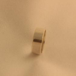 Anillo plano en plata 950_1385