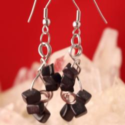 Aretes en acero y piedra onix_2395