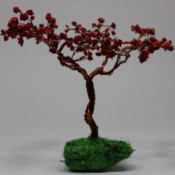 Arbolito en piedra coral rojo