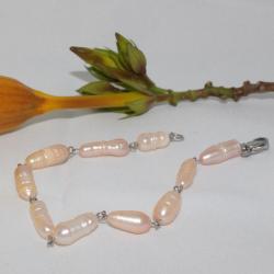 Manilla en piedra natural perlas de agua dulce_4611