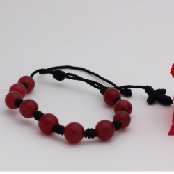 Manilla en piedra natural ágata roja_5560